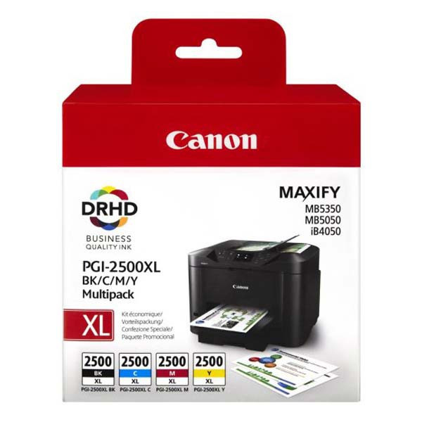 Canon original ink PGI-2500XL Bk/C/M/Y multipack, black/color, 9254B004, Canon MAXIFY iB4050, MB5050, MB5350