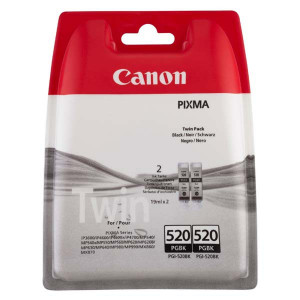 Canon originál ink PGI520BK, black, blister, 2x420str., 2x19ml, 2932B012, 2932B009, 2ks, Canon Pixma iP3600, iP4600