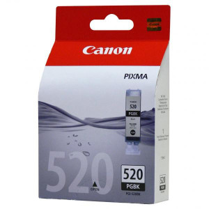Canon original ink PGI520BK, black, blister s ochranou, 19ml, 2932B011, 2932B005, Canon iP3600, 4600, MP620, 630, 980