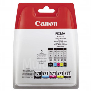 Canon original ink PGI-570/CLI-571 GBK/BK/C/M/Y Multi Pack, black/color, 0372C004, Canon Pixma MG575x, MG685x, MG775x