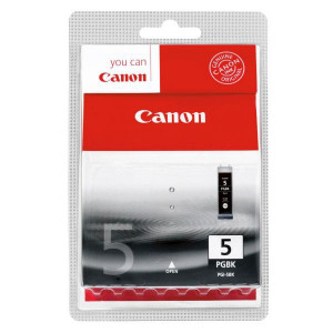 Canon originál ink PGI5BK, black, blister s ochranou, 360str., 26ml, 0628B029, 0628B006, Canon iP4200, 5200, 5200R, MP500, 800