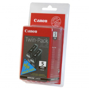 Canon original ink PGI5BK, black, 0628B025, 0628B030, 2ks, Canon iP3300, 3500, 4200, 4300, 4500, 5200R