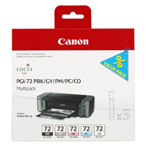 Canon original ink PGI72, PBK/GY/PM/PC/CO, 6403B007, Canon PIXMA Pro-10