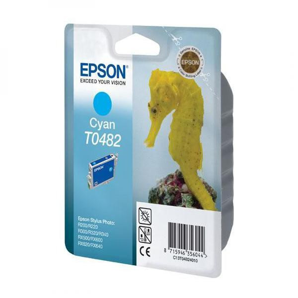 Epson original ink C13T048240, cyan, 430str., 13ml, Epson Stylus Photo R200, 220, 300, 320, 340, RX500, 600