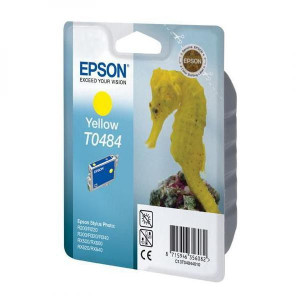Epson original ink C13T048440, yellow, 430str., 13ml, Epson Stylus Photo R200, 220, 300, 320, 340, RX500, 600