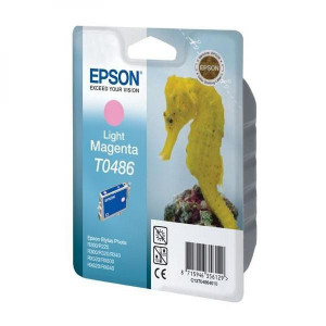 Epson original ink C13T048640, light magenta, 430str., 13ml, Epson Stylus Photo R200, 220, 300, 320, 340, RX500, 600