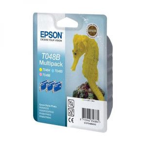 Epson original ink C13T048B40, light CMY, 430str., 3x13ml, Epson Stylus Photo R200, 220, 300, 320, 340