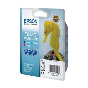 Epson original ink C13T048C40, cyan/magenta/yellow, 430str., 3x13ml, 12% úspora, Epson Stylus Photo R200, 220, 300, 320, 340