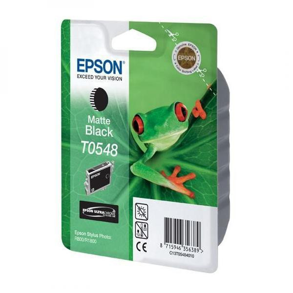 Epson original ink C13T054840, matte black, 550str., 13ml, Epson Stylus Photo R800, R1800