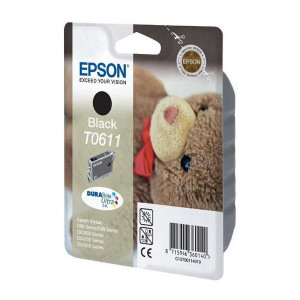 Epson original ink C13T06114020, black, blister s ochranou, 250str., 8ml, Epson Stylus D68PE, 88, DX3850, 4200, 4250, 4850