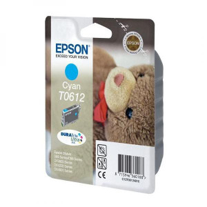 Epson original ink C13T06124010, cyan, 250str., 8ml, Epson Stylus D68PE, 88, DX3850, 4200, 4250, 4850