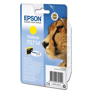 Epson original ink C13T07144012, yellow, 5,5ml, Epson D78, DX4000, DX4050, DX5000, DX5050, DX6000, DX605