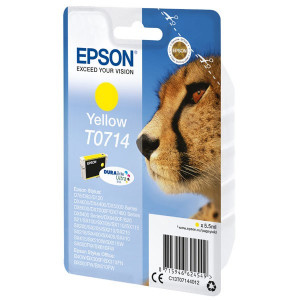Epson original ink C13T07144022, yellow, blister s ochranou, 5,5ml, Epson D78, DX4000, DX4050, DX5000, DX5050, DX6000, DX605