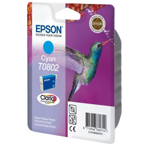 Epson original ink C13T08024011, cyan, 7,4ml, Epson Stylus Photo PX700W, 800FW, R265, 285, 360, RX560