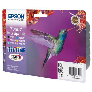 Epson original ink C13T08074011, CMYK/light C/light M, Epson Stylus Photo PX700W
