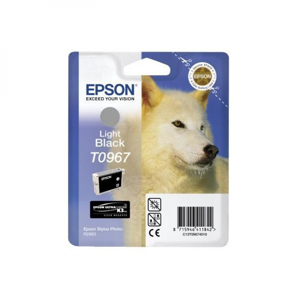 Epson original ink C13T09674010, light black, 13ml, Epson Stylus Photo R2880