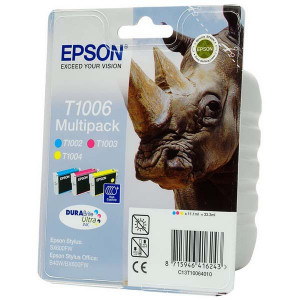 Epson original ink C13T10064010, cyan/magenta/yellow, 3x11,1ml, Epson Stylus Office B40W, BX310FN, 600FW, SX510W, B1100