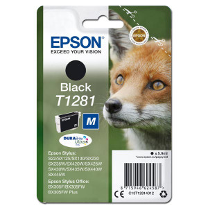 Epson original ink C13T12814012, T1281, black, 5,9ml, Epson Stylus S22, SX125, 420W, 425W, Stylus Office BX305