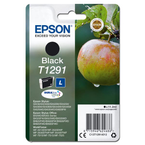 Epson original ink C13T12914012, T1291, black, 385str., 11,2ml, Epson Stylus SX420W, 425W, Stylus Office BX305F, 320FW