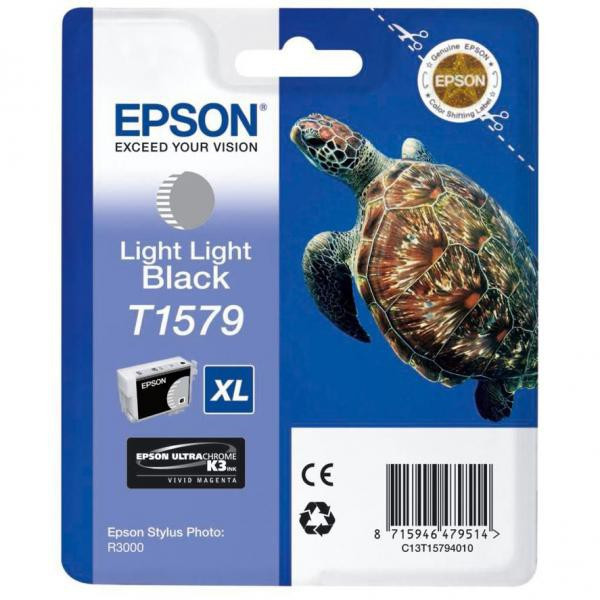 Epson original ink C13T15794010, light light black, 25,9ml, Epson Stylus Photo R3000