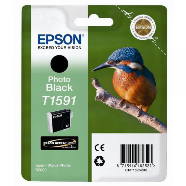 Epson original ink C13T15914010, photo black, 17ml, Epson Stylus Photo R2000
