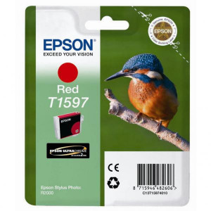 Epson original ink C13T15974010, red, 17ml, Epson Stylus Photo R2000