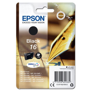 Epson originál ink C13T16214012, T162140, black, 5.4ml, Epson WorkForce WF-2540WF, WF-2530WF, WF-2520NF, WF-2010