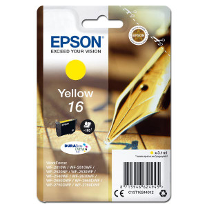 Epson originál ink C13T16244012, T162440, yellow, 3.1ml, Epson WorkForce WF-2540WF, WF-2530WF, WF-2520NF, WF-2010
