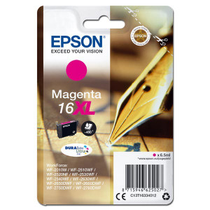 Epson original ink C13T16334012, T163340, 16XL, magenta, 6.5ml, Epson WorkForce WF-2540WF, WF-2530WF, WF-2520NF, WF-2010