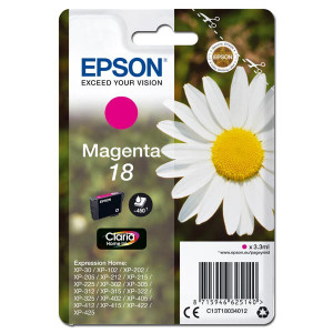 Epson original ink C13T18034012, T180340, magenta, 3,3ml, Epson Expression Home XP-102, XP-402, XP-405, XP-302