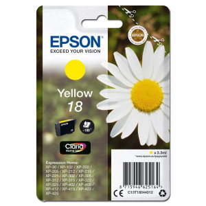 Epson original ink C13T18044012, T180440, yellow, 3,3ml, Epson Expression Home XP-102, XP-402, XP-405, XP-302