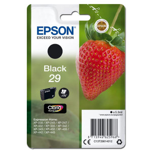 Epson original ink C13T29814012, T29, black, 5,3ml, Epson Expression Home XP-235,XP-332,XP-335,XP-432,XP-435
