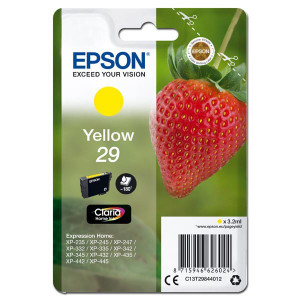 Epson original ink C13T29844012, T29, yellow, 3,2ml, Epson Expression Home XP-235,XP-332,XP-335,XP-432,XP-435