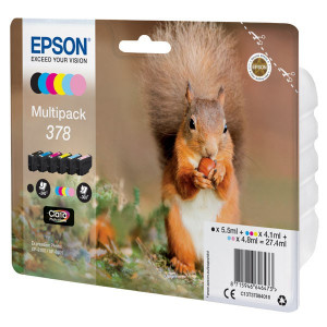 Epson originál ink C13T37884010, color, 3x4.1ml, 2x4.8ml, 1x5.5ml, Epson Expression Photo XP-8500, XP-8505