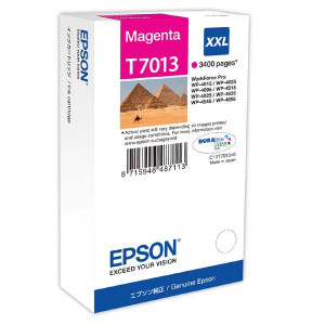 Epson original ink C13T70134010, XXL, magenta, 3400str., Epson WorkForce Pro WP4000, 4500 series