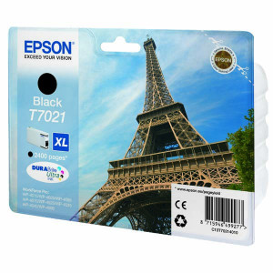 Epson original ink C13T70214010, XL, black, 2400str., Epson WorkForce Pro WP4000, 4500 series