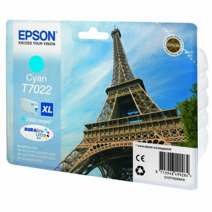 Epson originál ink C13T70224010, XL, cyan, 2000str., Epson WorkForce Pro WP4000, 4500 series