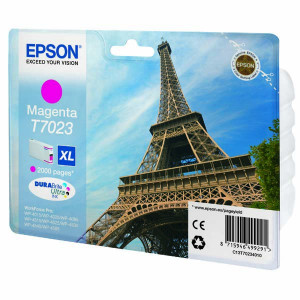 Epson originál ink C13T70234010, XL, magenta, 2000str., Epson WorkForce Pro WP4000, 4500 series