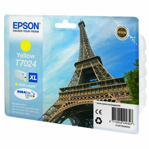 Epson original ink C13T70244010, XL, yellow, 2000str., Epson WorkForce Pro WP4000, 4500 series