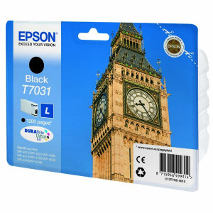 Epson original ink C13T70314010, L, black, 1200str., Epson WorkForce Pro WP4000, 4500 series