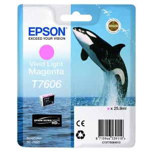 Epson original ink C13T76064010, T7606, vivid light  magenta, 25,9ml, 1ks, Epson SureColor SC-P600