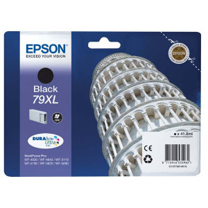 Epson original ink C13T79014010, 79XL, XL, black, 2600str., 42ml, 1ks, Epson WorkForce Pro WF-5620DWF, WF-5110DW, WF-5690DWF