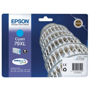 Epson original ink C13T79024010, 79XL, XL, cyan, 2000str., 17ml, 1ks, Epson WorkForce Pro WF-5620DWF, WF-5110DW, WF-5690DWF