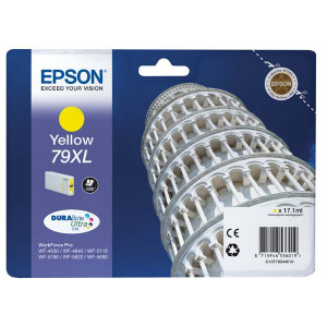 Epson original ink C13T79044010, 79XL, XL, yellow, 2000str., 17ml, 1ks, Epson WorkForce Pro WF-5620DWF, WF-5110DW, WF-5690DWF