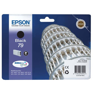 Epson original ink C13T79114010, 79, L, black, 900str., 14ml, 1ks, Epson WorkForce Pro WF-5620DWF, WF-5110DW, WF-5690DWF