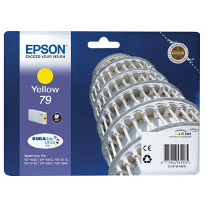 Epson original ink C13T79144010, 79, L, yellow, 800str., 7ml, 1ks, Epson WorkForce Pro WF-5620DWF, WF-5110DW, WF-5690DWF