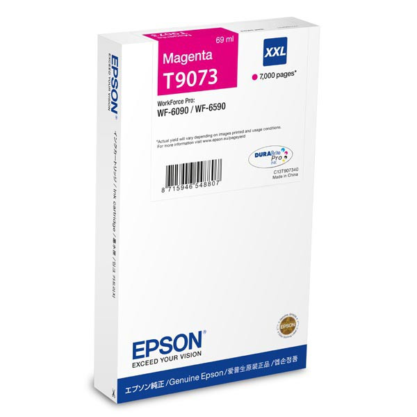 Epson original ink C13T907340, T9073, XXL, magenta, 69ml, Epson WorkForce Pro WF-6090DW