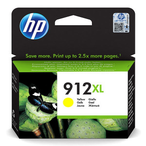 HP originální ink 3YL83AE, HP 912XL, yellow, 825str., high capacity, HP Officejet 8012, 8013, 8014, 8015 Officejet Pro 802
