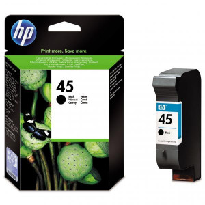 HP originál ink 51645AE, HP 45, black, 930str., 42ml, HP DeskJet 850, 970Cxi, 1100, 1200, 1600, 6122, 6127