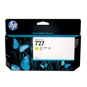 HP original ink B3P21A, HP 727, yellow, 130ml, HP DesignJet T1500, T2500, T920